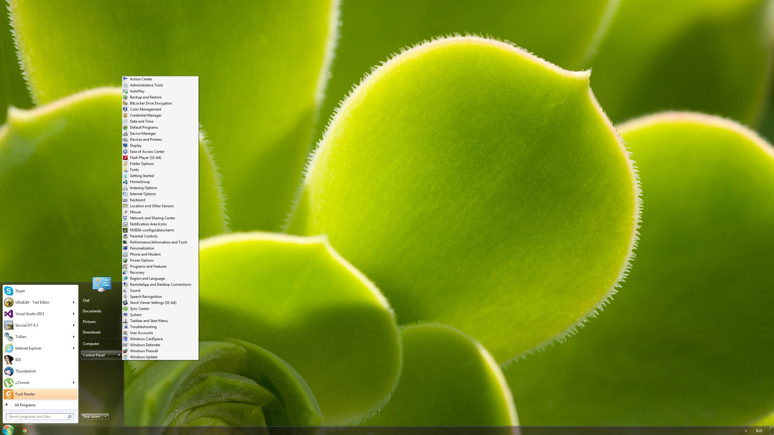 how to make windows 10 start menu transparent